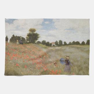 Monets Mohnblumen-Feld Küchentuch