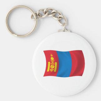 Mongolei-Flagge Keychain Schlüsselanhänger