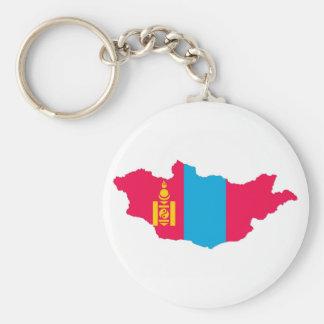 Mongolei-Landesflaggekarten-Formsymbol Schlüsselanhänger