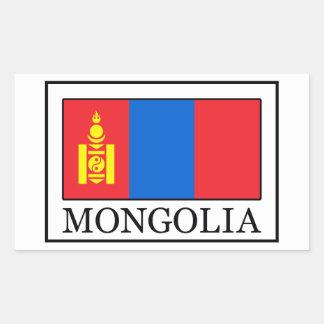 Mongolei Rechteckiger Aufkleber