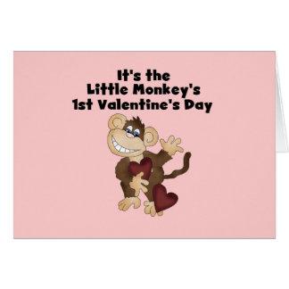Monkey 1. Valentinstag-T-Shirts Karte