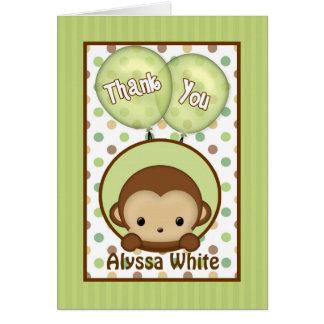 Monkey Grün der Babyparty MPPv4 danken Ihnen Karte