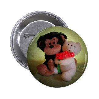 Monkey nicht mit meinem Teddybären Runder Button 5,1 Cm