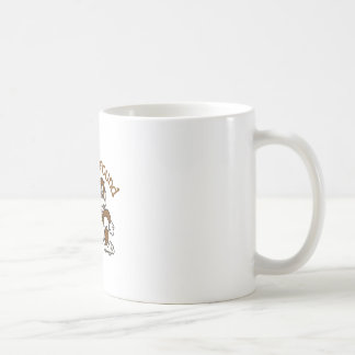 Monkeying herum kaffeetasse