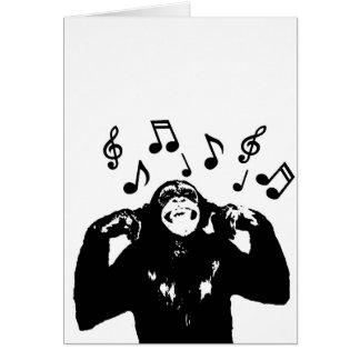 monkeymonkey de musique carte de vœux