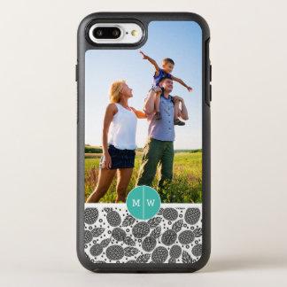 Monochrom Pineapples  addieren Ihr Foto u. OtterBox Symmetry iPhone 8 Plus/7 Plus Hülle