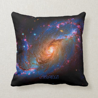 Monogramm abgehaltener Spiralarm NGC 1672 Kissen