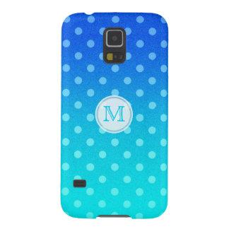 Monogramm: Aquarell-Tupfen Samsung S5 Cover