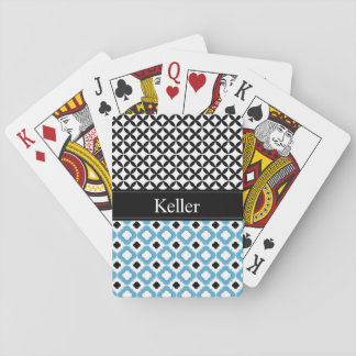Monogramm-blaue und schwarze Spielkarten