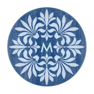 Monogramm blühen verziertes Vintages dekoratives Schneidebrett