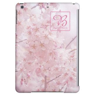 Monogramm-Brautjungfer blaß - rosa Kirschblüten
