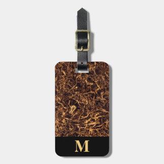 Monogramm-Brown zerrissener Tabak Kofferanhänger