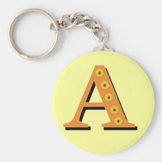 Monogramm-Buchstabe A Standard Runder Schlüsselanhänger