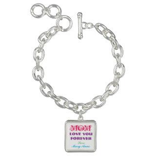 Monogramm-Charme-Armband-Geschenke für Mamma Armbänder