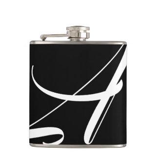 Monogramm eine Flasche Flachmann
