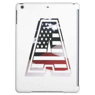 Monogramm eine USA-Flaggen-amerikanische Initiale