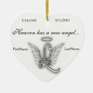 Monogramm-Erinnerungstribut-Verzierung L Keramik Ornament
