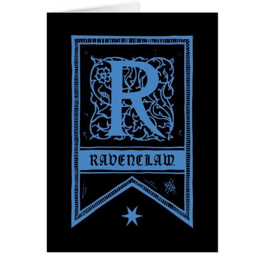 Monogramm-Fahne Harry Potters | Ravenclaw Grußkarte