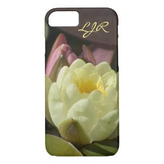 Monogramm-gelber Wasserlilie-Telefon-Kasten iPhone 7 Hülle