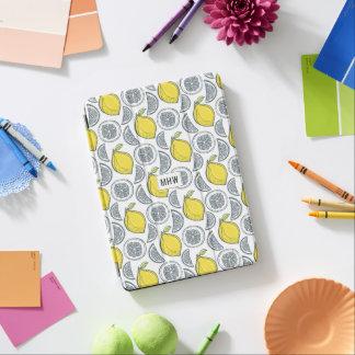 Monogramm-Gerätabdeckungen des Zitronen-Musters iPad Air Hülle
