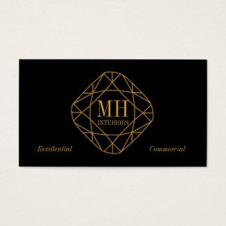 Monogramm-Golddiamant-Visitenkarten Visitenkarte