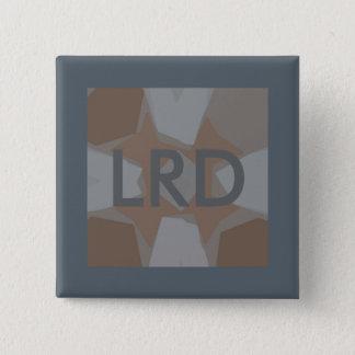 Monogramm-graues Digital-Kunst-Button Quadratischer Button 5,1 Cm