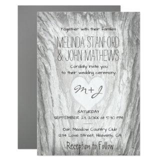 Monogramm-Herz der Hochzeits-Einladungs-  mit Karte