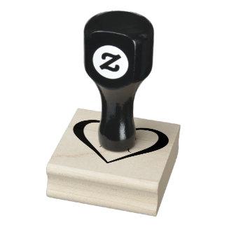 Monogramm-Herz Gummistempel