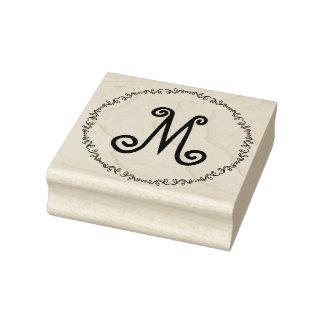 Monogramm in der wunderlichen gummistempel