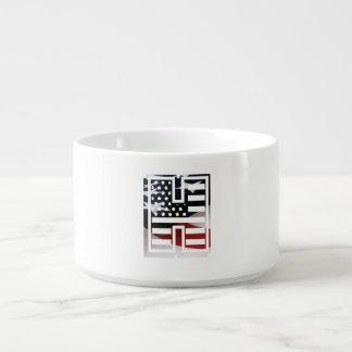 Monogramm-Initiale des Buchstabe-H patriotische Kleine Suppentasse