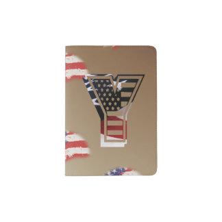 Monogramm-Initiale des Buchstabe-Y patriotische Passhülle