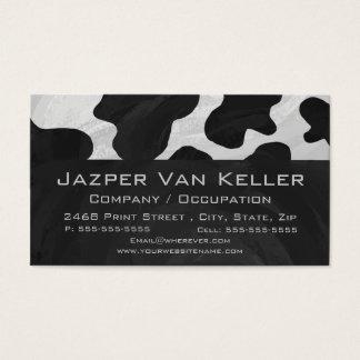 Monogramm-Kuh Schwarzweiss Visitenkarte