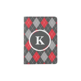 Monogramm, kundenspezifisches passhülle