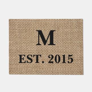 Monogramm-Leinwand-Fußmatte Türmatte