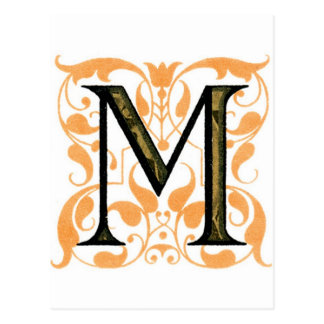 Monogramm M Postkarte