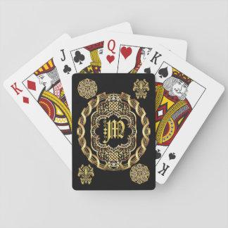 Monogramm M WICHTIGES gelesen über Entwurf Spielkarten