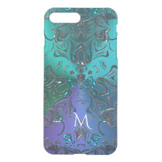 Monogramm-Mandala-Raum-Fantasie-Kostüm iPhone 8 Plus/7 Plus Hülle