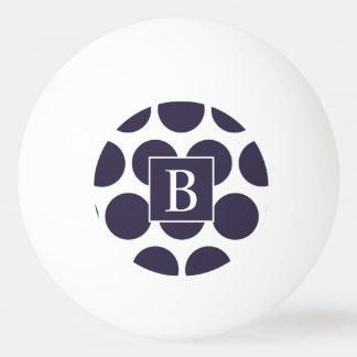 Monogramm-Marine-Tupfen-Klingeln Pong Ball Tischtennis Ball