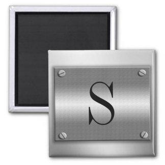 Monogramm-Metallrahmen mit Schrauben-Magneten Quadratischer Magnet