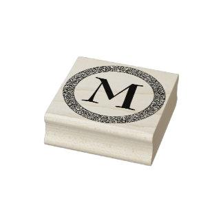 Monogramm mit starker verzierter dekorativer gummistempel
