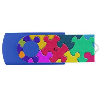 Monogramm-Neuheits-Puzzlespiel USB Stick