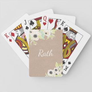 Monogramm-personalisierter Spielkarten