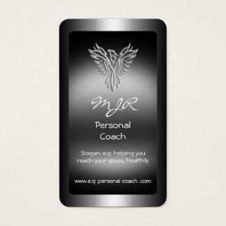 Monogramm, persönlicher Trainer, Silberblick Visitenkarte