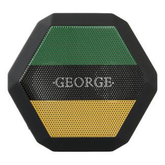 Monogramm-Reihe: Grün und Gelb Schwarze Bluetooth Lautsprecher