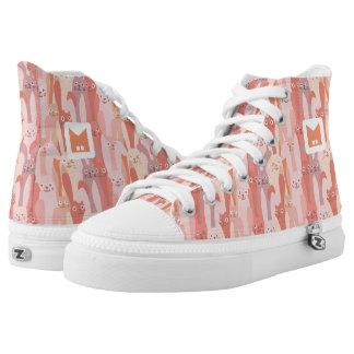 Monogramm-Reihe: Kawaii niedliche Hoch-geschnittene Sneaker