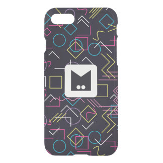 Monogramm-Reihe: Memphis fest in den Achtziger iPhone 8/7 Hülle