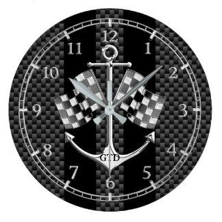 Monogramm-Ruderwettkampf nautisch in der Uhr