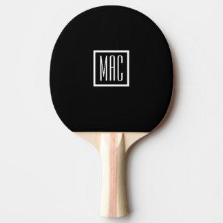 Monogramm-schwarzes Klingeln Pong Paddel Tischtennis Schläger