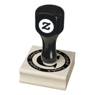 Monogramm Scottish-Campbell-Buchstabe-C Gummistempel