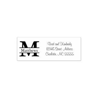 Monogramm - Selbst, der Adressen-Briefmarke mit Permastempel
